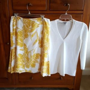Ann Taylor Summer skirt and sweater